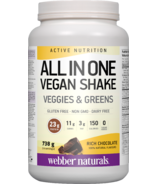 Webber Naturals Active Nutrition All In One Vegan Shake Chocolate