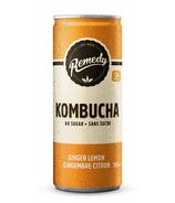 Remedy Organic Kombucha Ginger Lemon