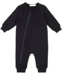 Miles Baby Playsuit in Our Not-So-Basic Play Block Print Black 3M-24M