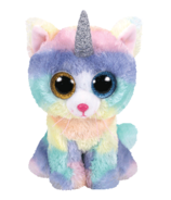 Ty Beanie Boo's Heather The Horned Cat Large