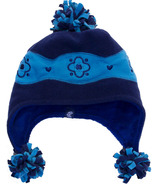 Calikids Two Tone Microfleece Hat Navy & Lake Blue
