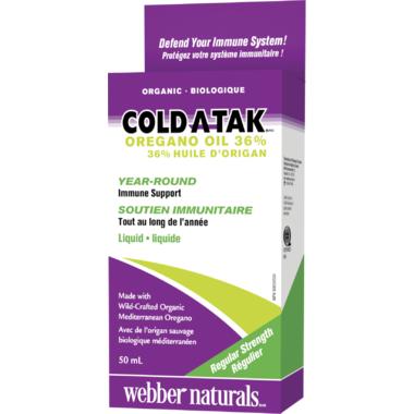 Webber Naturals Cold-A-Tak Oregano Oil 36%