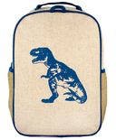 SoYoung Raw Linen Blue Dino Grade School Backpack
