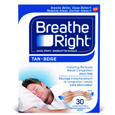 Breathe Right Tan Large Nasal Strips