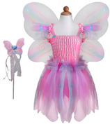 Great Pretenders Butterfly Dress & Wings With Wand Pink & Multi-Colour