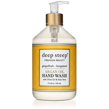 Deep Steep Argan Oil Liquid Hand Wash Grapefruit Bergamot