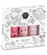nailmatic Cosmos Set of 3 Kids Water-Based Nail Polishes Pink