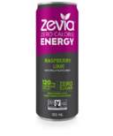 Zevia Zero Calorie Energy Drink Raspberry & Lime