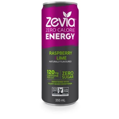 Zevia Zero Calorie Energy Drink Raspberry & Lime