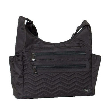 Lug Camper Crossbody Bag Brushed Black