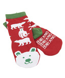 Little Blue House by Hatley Kids Socks Beary Xmas
