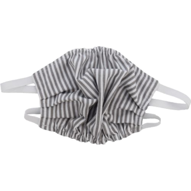 Puffin Gear Reusable Cloth Face Mask Grey Stripe