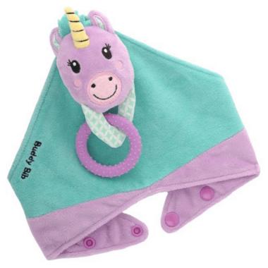 Buddy Bib 3-in-1 Sensory Teething Toy & Bib Unicorn