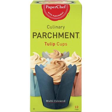 PaperChef Parchment Tulip Baking Cups Multi Coloured