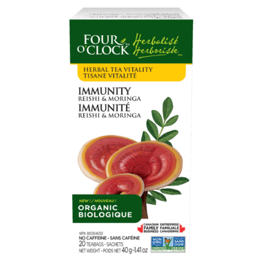 Four O\'Clock Immunity Reishi & Moringa Herbal Tea