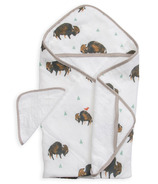 Little Unicorn Cotton Hooded Towel & Washcloth Bison
