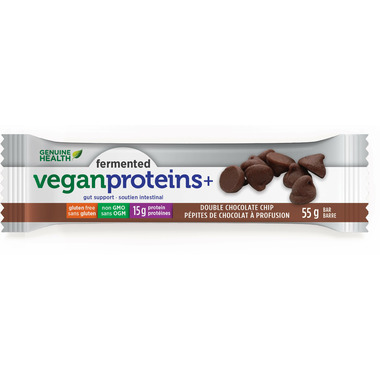 Genuine Health Fermented Vegan Proteins+ Bars