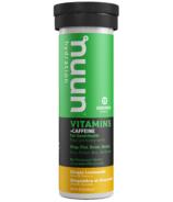 Nuun Hydration Vitamins + Caffeine Ginger Lemonade