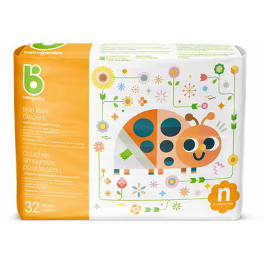 babyganics Skin Love Ultra Absorbent Diapers Size Newborn