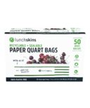 Lunchskins Sealable Paper Quart Bags Stripe