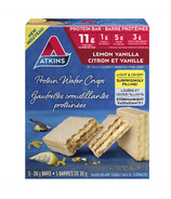 Atkins Protein Wafer Crisps Lemon Vanilla 5-Pack