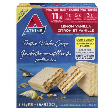Atkins Protein Wafer Crisps Lemon Vanilla 5-Pack