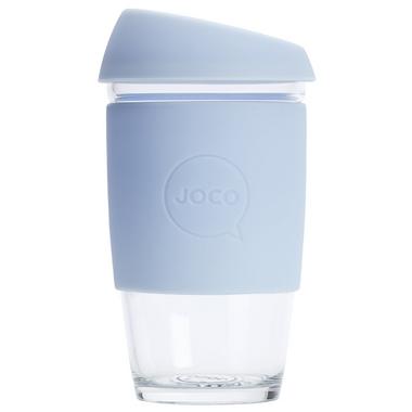 JOCO Reusable Glass Cup Vintage Blue