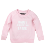 BRUNETTE the Label Babes Supporting Babes Crew Pink