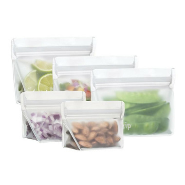 (re)zip Stand-Up Reusable Snack Bags Starter Kit