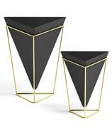 Umbra Trigg Tabletop Set Small + Large Black/Brass