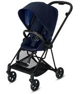 Cybex Mios Matte Black Frame with Indigo Blue Seat Pack