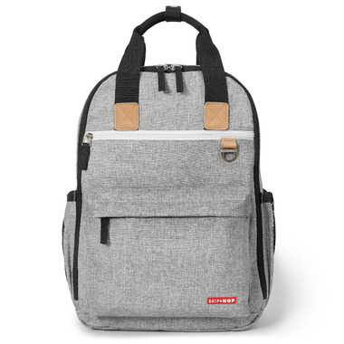 Skip Hop Duo Diaper Backpack Grey Melange