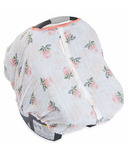 Little Unicorn Cotton Muslin Car Seat Canopy Watercolour Rose