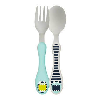 Lassig Little Monsters Stainless Steel Cutlery Bouncing Bob