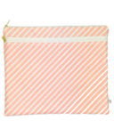 Logan and Lenora Waterproof Wet & Dry Portfolio Blush Stripe