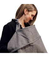 Fox & Fawn Baby Haven Nursing Cover Charcoal Black