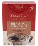 Teeccino Turkey Tail Astragalus Mushroom Herb Tea