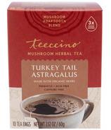 Teeccino Turkey Tail Astragalus Mushroom Herb Tea