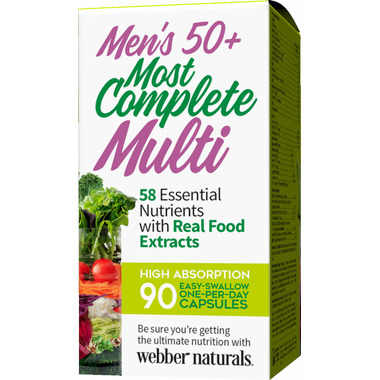 Webber Naturals Men\'s 50+ Most Complete Multi