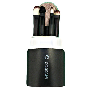 Basicare 5-Piece Cosmetic Brush Kit with Case