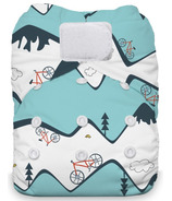 Thirsties Natural One Size All in One Hook & Loop Diaper Mountain Bike