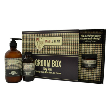 Cocoon Apothecary Malechemy Bay Rum Groom Box