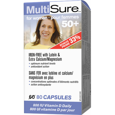 Webber Naturals MultiSure for Women 50+ Bonus Size