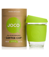 JOCO Glass Reusable Coffee Cup in Lime