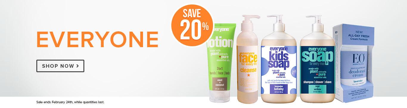 Save 20% off Everyone