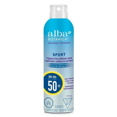 Alba Botanica Very Emollient Sport Continuous Spray Sunscreen SPF50+