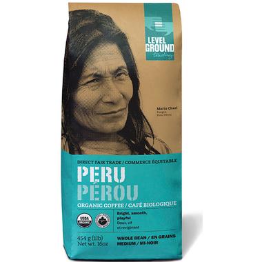 Level Ground Peru Organic Medium Roast Coffee Beans