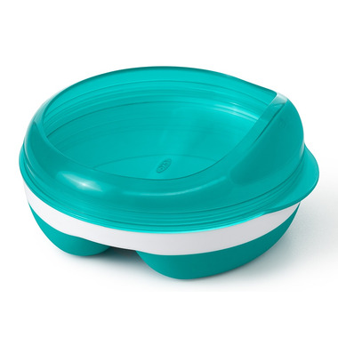 OXO Tot Feeding Dish with Removable Ring Teal