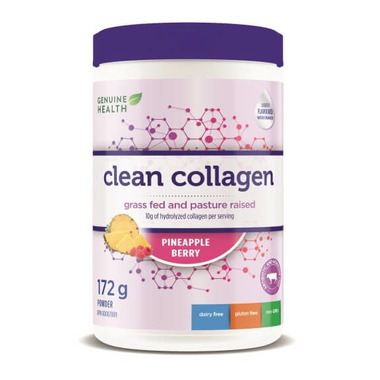 Genuine Health Clean Collagen Bovine Pineapple Berry