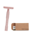 Well Kept Dusty Rose Razor and Blades Bundle
